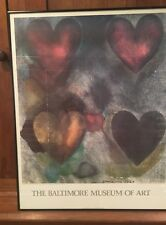 "JIM DINE POSTER ""FLO-MASTER HEARTS"" BALTIMORE MUSEUM OF ART COLLECTION 1969"