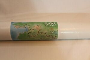 """Map Iditarod Trail Sled Dod Race 24"""" x 36"""" rolled Paper Map"""