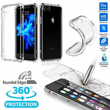Shockproof 360°Matte Bumper Slim TPU Case skin cover + Glass Screen Protector #Z