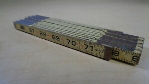 Klein Tools Foldable Wooden Rule 900-6 72 inch Vintage M6