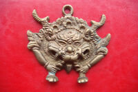 Rare Old Dragon Mask Tibetan Buddhist Bronze Handcrafted large Nepal Pendant