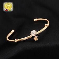 NEW FASHION Rhinestone Skull Gold Bracelet Cuff Gothic Bangle Women Ladies Gift