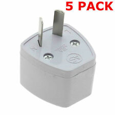 MULTI 5 PACK, UK TO AU TRAVEL ADAPTER EU US TO AUSTRALIA 3 PIN TO 2 PIN PLUG