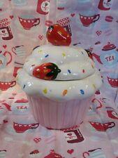 Ceramic Cupcake Cookie Jar 🍪 Storage Jar Biscuit Tin Biscuit Barrel Canister