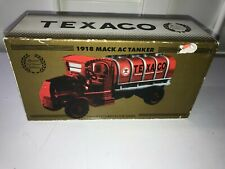 TEXACO 1918 MACK AC TANKER DELIVERY TRUCK RED CHROME EDITION #24