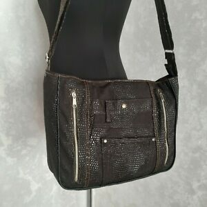Handmade Concealed Carry Bag, Brown hobo bag with hidden carry function