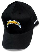 San Diego Chargers NFL Reebok Sideline Hat Cap Solid Black w/ Yellow Logo OSFA