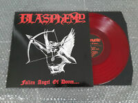 BLASPHEMY: Fallen Angel of Domm DIE HARD DELUXE RED LP with Flag lim. 100 NEW!