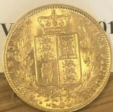Grade UNC 1877 Gold Sovereign Young Head Shield Back Sydney Mint Rare Investment