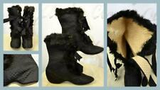 Antique Victorian 1800's silk quilted fur-trimmed carriage boots J&J Slater