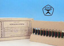 2x K42Y2 0.1uF 160V PiO Metallized Paper Military Soviet Audio Capacitors К42У-2