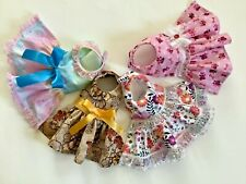 New listing 4 piece handmade doggie dress bundle Tcup size xxs
