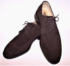Johnston and Murphy Men's Brown Suede Classic Lace Up Shoes