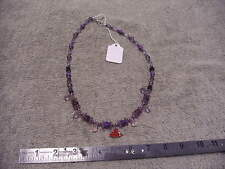 Mother In Law Made Red Hat Ladies Necklace , Bracelet & Earrings By Lou Ann
