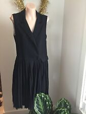 Boy Band Of Outsiders Black Cotton & Wool Pleated Dress Size 3