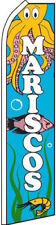 """MARISCOS"" super flag swooper banner advertising sign (seafood) fish"