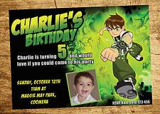 BEN 10 Invitation Birthday Party Invite YOUPRINT Digital File PAW PATROL MINION
