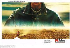 PUBLICITE ADVERTISING 105  1986  MARLBORO vetements sport moto ( 2p)