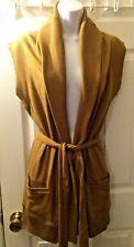NWT RALPH LAUREN Polo Vest Jacket Coffee Camel Brown Shawl Collar Sz S Women's