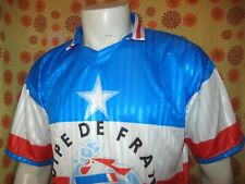 Vintage 90s Ancien MAILLOT EQUIPE DE FRANCE XXL Produit Officiel FFF Football
