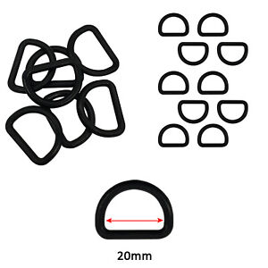 Plastic D Rings Buckles Black Fastening Strapping Webbing Bag Belts DIY Leather