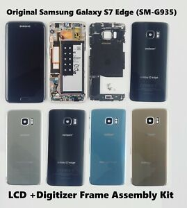Original Samsung Galaxy S7 Edge SM-G935 LCD Screen Digitizer Frame Replacement