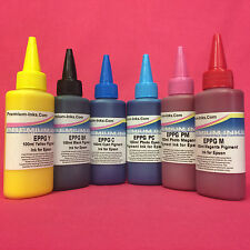 600ml Non OEM Compatible PIGMENT Ink Bottles for Epson Stylus Photo R1500W R1500