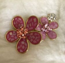 Neoglory Pink Flower Brooch With Swarovski Elements