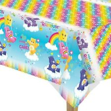 Girls Birthday Party Tablecover Decoration Care Bears TV Show Rainbow 80s Retro