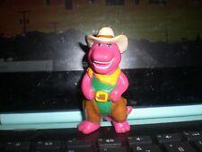 "1993 Lyons Barney Dressed As A Cowboy PVC Toy Figure 3"""