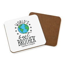 World's Best Brother Coaster Drinks Mat - Funny Gift Present