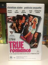 TRUE ROMANCE - Christian Slater and Patricia Arquette - VHS