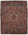 Vintage Floral Garden Design 10'3X12'7 Wool Oriental Area Rug Home Decor Carpet