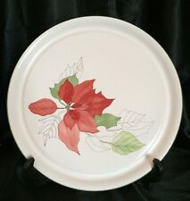 "Block Spal Poinsettia by Mary Lou Goertzen 12"" Round Serving Platter Portugal"