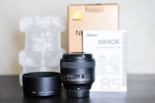 Nikon AF-S 85mm F/1.8G Prime Portrait FX Lens - US Model!