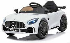 Auto Macchina elettrica per Bambini Mercedes GTR 12v Verde Sedile in Pelle
