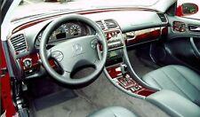 Dash Trim Kit for MERCEDES CLK 98 99 00 01 02 carbon fiber wood aluminum