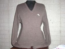Vintage 1980's Steeplechase brown acrylic v-neck Sweater Medium