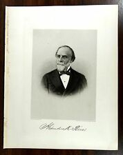 ALEXANDER HAMILTON RICE Engraving Print 1879 Mayor Boston Governor Congress Mass