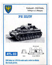 1/35 ATL03 FreeShip FRIULMODEL METAL TRACK for GERMANY PANZER III & IV models