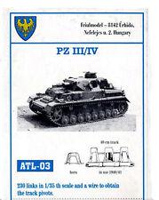 1/35 ATL03 FreeShip FRIULMODEL METAL TRACK for GERMAN PANZER III & IV