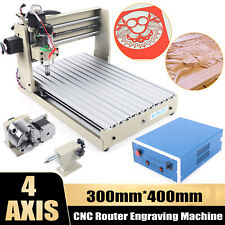 New Listing4 Axis 400w Cnc 3040 Router Engraver Carving Cutting Drillmilling Machine 110v