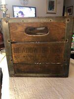Vintage 1963? Meadow Brook Dairy Milk Farm Advertising Crate Erie Pa