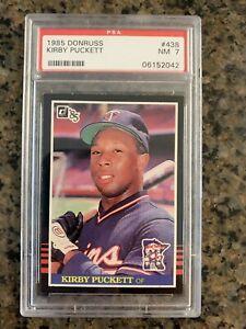 1985 Donruss Kirby Puckett #438 PSA 7 NM
