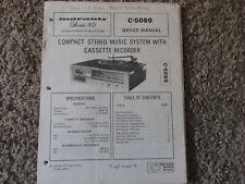 New listing Marantz C-5080 Cassette Stereo Original Service Repair Manual