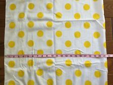 New listing Vintage Cotton Fabric Yellow Polka Dots/White 42Wx136� 3+Yd. Semi-Sheer Nubby
