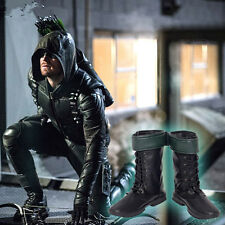 HZYM HOT Green Arrow Season 5 Oliver Queen Cosplay Boots Shoes