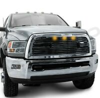Big Horn 2+3xLED Black Packaged Grille+Chrome Shell for 10-18 Dodge RAM