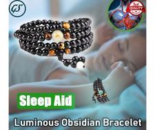 Sleep Aid Magnetic Therapy Obsidian Bracelet Original Luminous Black 78cm