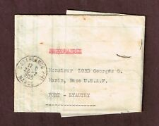 Casablanca Maroc, 1955 French Morocco Official Insurance doc. US Military mail